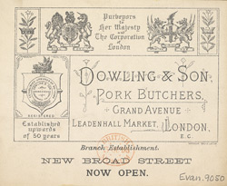 Advert For Dowling & Son, Pork Butchers